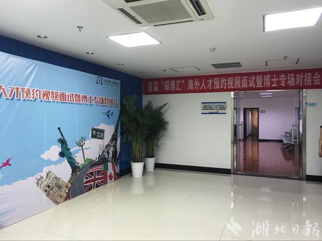 """湖北首屆""""碩博匯""""海外人才視頻招聘會在武漢舉辦"""