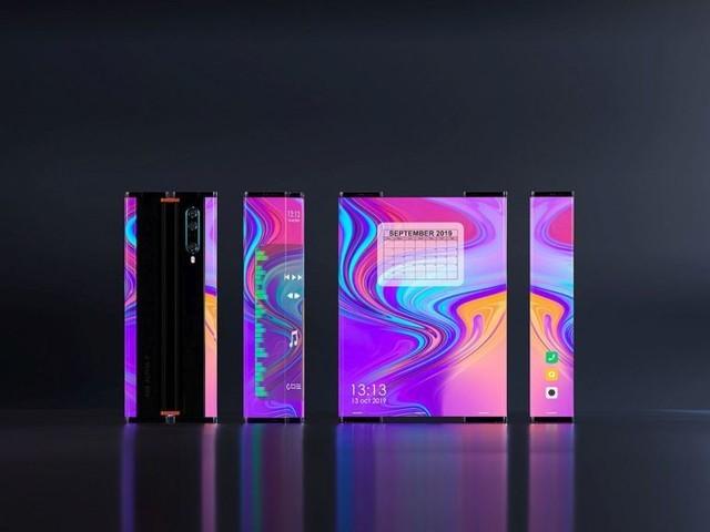 小米Mix Alpha2环绕屏新机渲染图曝光,OLED屏采用滚动和伸缩式设计