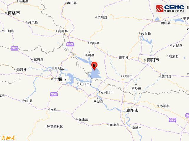 南阳市淅川县3.6级地震 当地今天有小雨