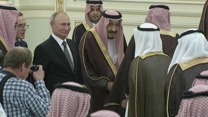 △图片来自沙特国家电视台截图
