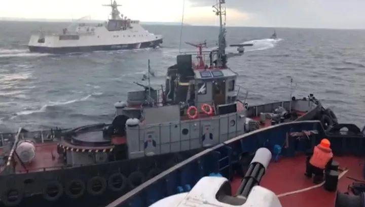 ▲俄乌船只刻赤海峡冲突。(俄罗斯音信台音信网)