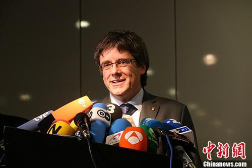 资料图:西班牙加泰罗尼亚自治区前主席普伊格德蒙特。 中新社记者 郭泰 摄