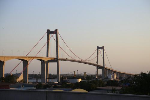 这是11月9日在莫桑比克拍摄的马普托大桥。新华社记者 聂祖国 摄