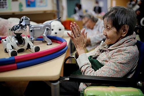 在人力缺乏的未来,高龄犯罪者入狱也更需要机器人辅助狱中生活。(路透社)