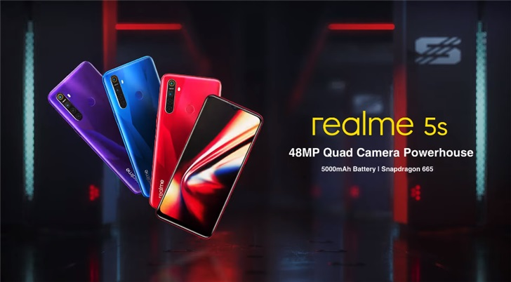 Realme 5s将于11月20日发布,搭载骁龙665 SoC