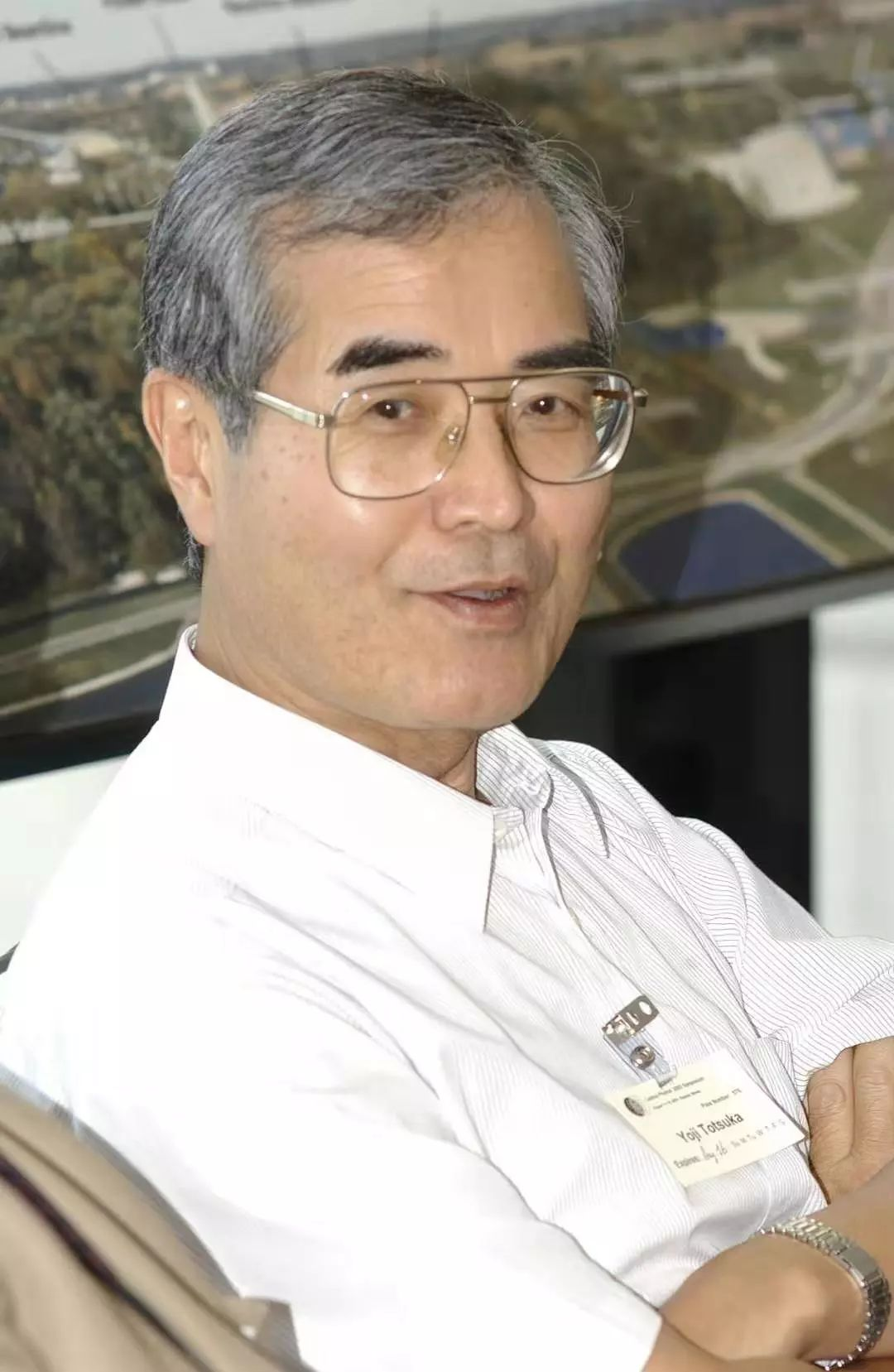 2003年访问美国费米国家实验室时的户塚洋二 | 摄影:Reidar Hahn