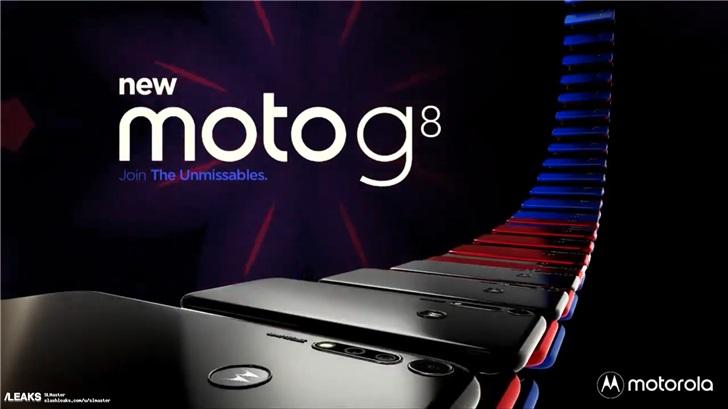 摩托罗拉Moto G8外观设计图曝光,后置指纹L...