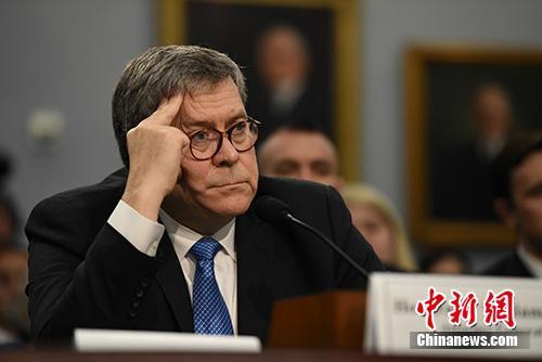 资料图:美国司法部长巴尔。中新社记者 陈孟统 摄