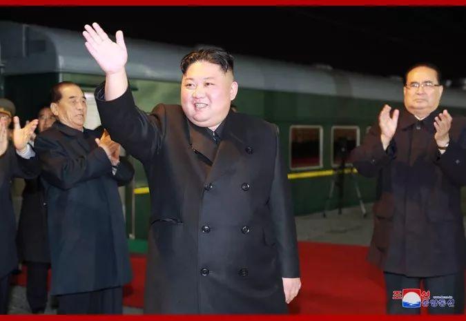 金正恩启程前往俄罗斯。图片来源:朝中社。