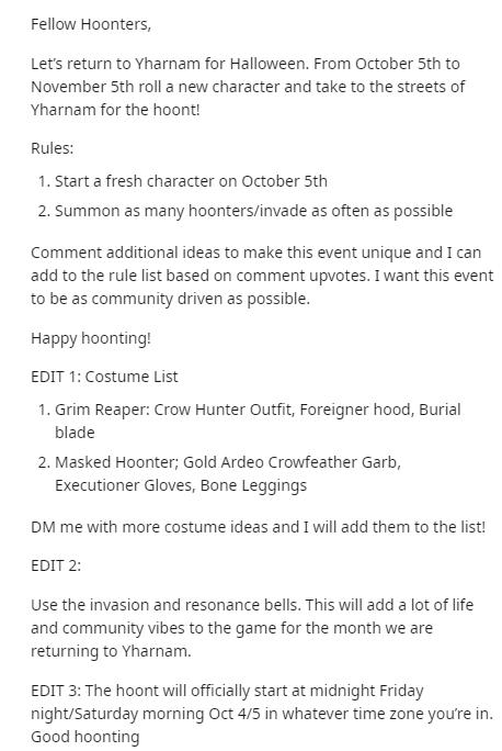 Reddit《血源》将举办万圣节活动 玩家将Cos怪物入侵