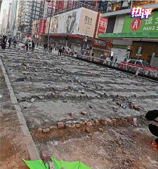 △香港街头一角