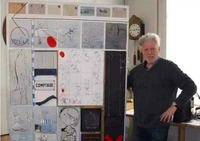 """▲比利时画家克里斯蒂安·希尔文,通过比利时电视台曝光称中国艺术家叶永青长期""""抄袭""""其作品。图片来源:新京报书评周刊。"""