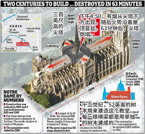 最引以为豪的315亩木材 害 了巴黎圣母院 315 巴黎圣母院 观察者网 新浪新闻