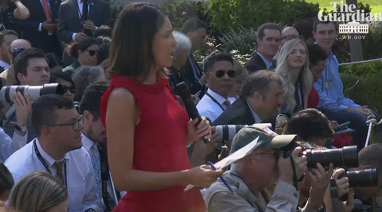 ABC记者塞西莉亚・维加提问/视频截图