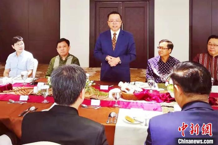 图为黄溪连大使致答谢辞。 中国驻东盟使团 供图 摄