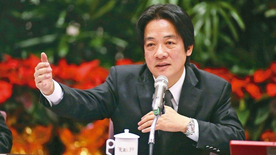 赖清德(来源:台湾《联合报》)
