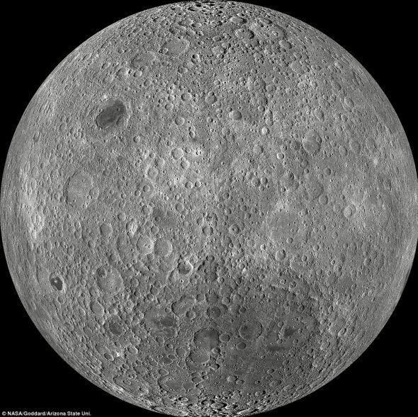 美国月球勘测轨道器拍摄的月球背面照片。