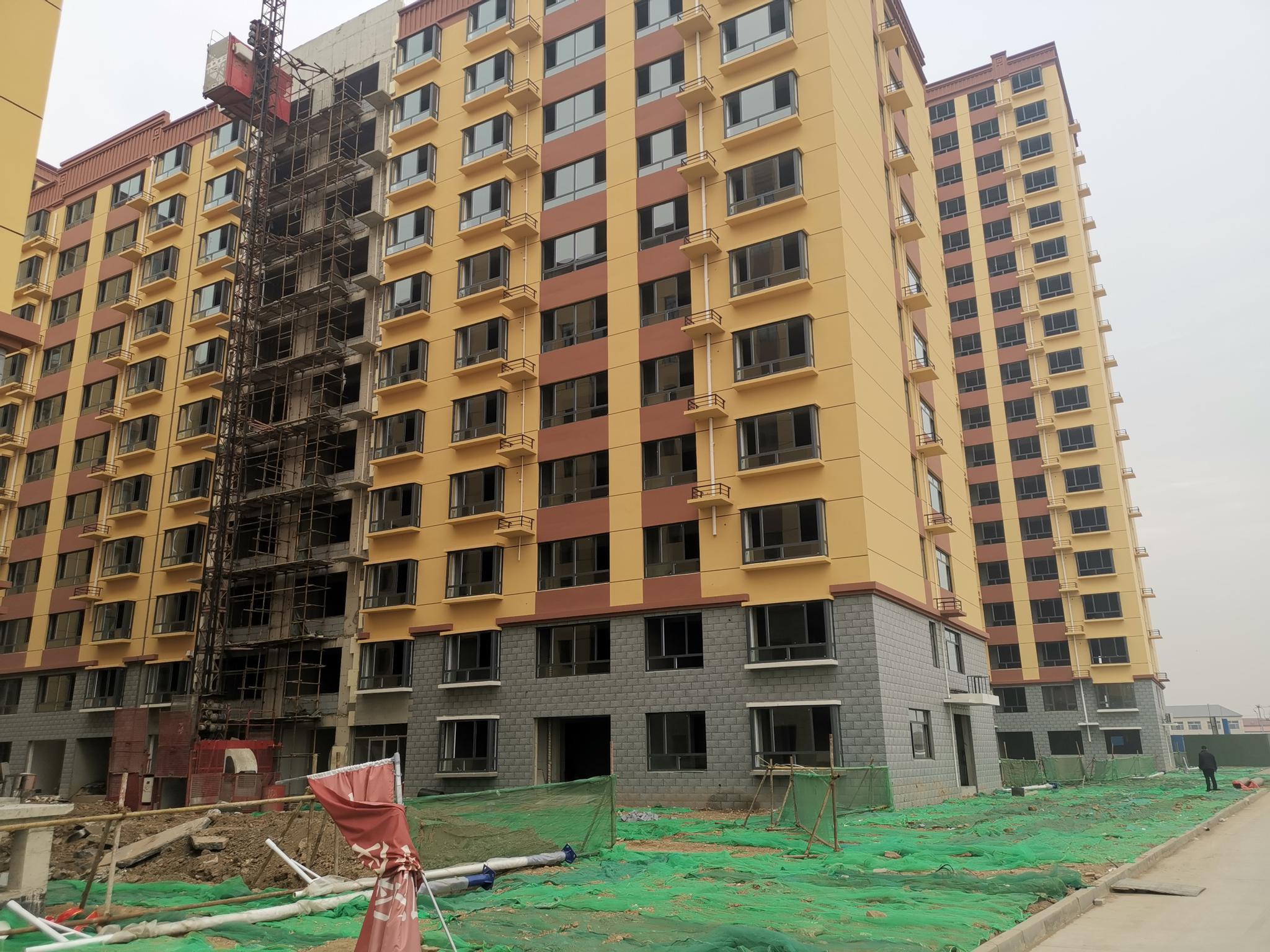 """正在建设的""""北赵家坟新民居""""项目。新京报记者 张建 摄"""