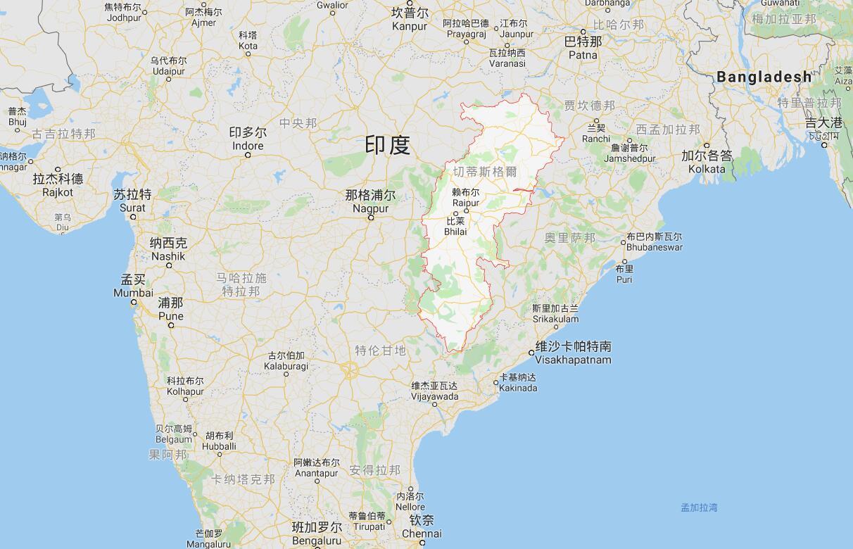 恰蒂斯加尔邦(图源:谷歌地图)