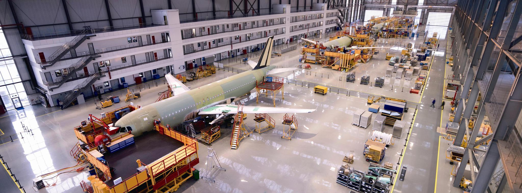 机场片区空客公司。图片来源:天津自贸试验区