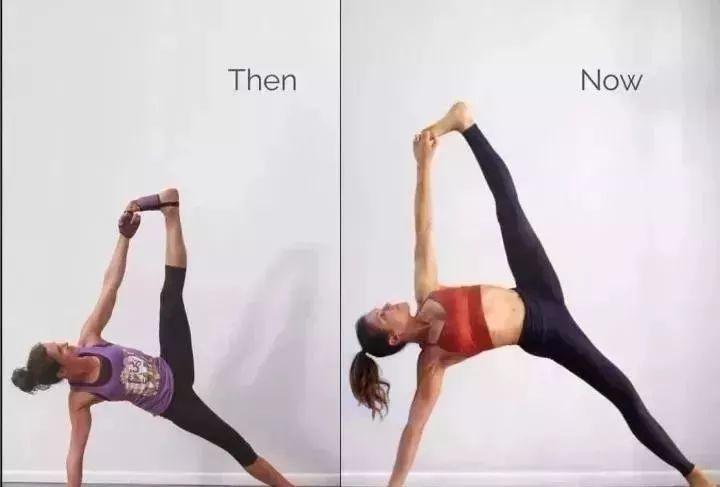 riva也并不是一開始練瑜伽就那么6哦 看下她瑜伽前后對比照就知道圖片