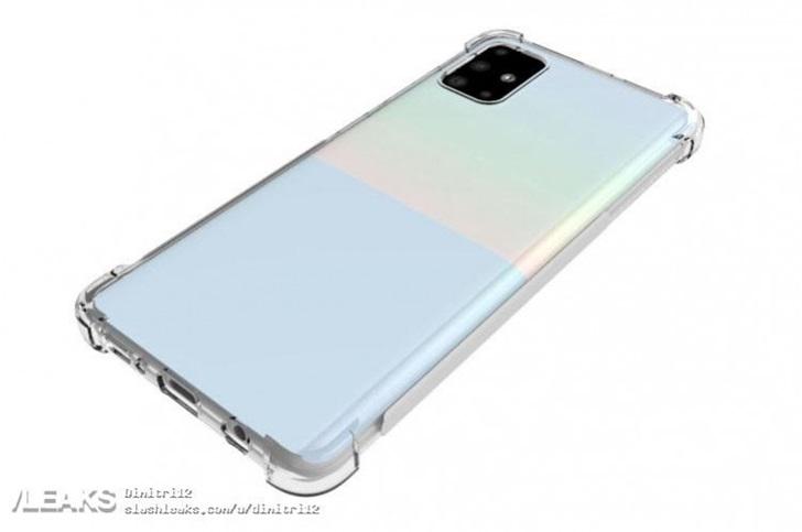 三星Galaxy A51渲染图,采用屏下指纹技术...