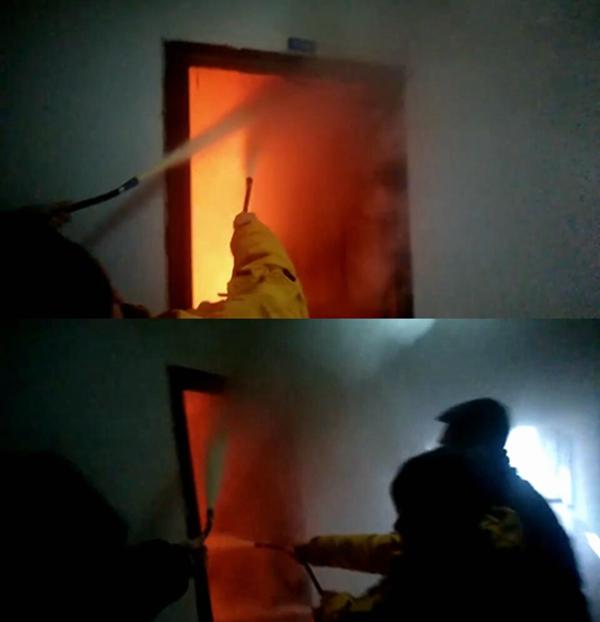 图为发生火情的宿舍。@重庆高校供图