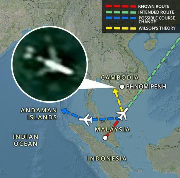 MH370在柬埔寨?谷歌:图像是飞行中飞机,但地图更新仍可见