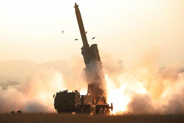 朝鲜宣布成功试射超大型火箭炮。(图源:劳动新闻)