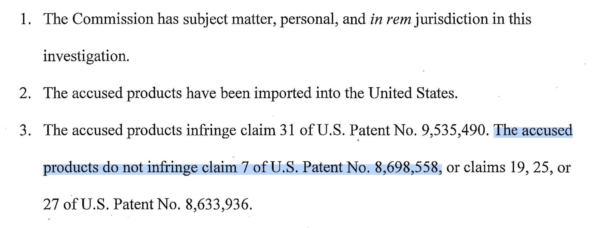 FTC 对苹果侵犯高通利案件的判断书。图片来源:FTC。