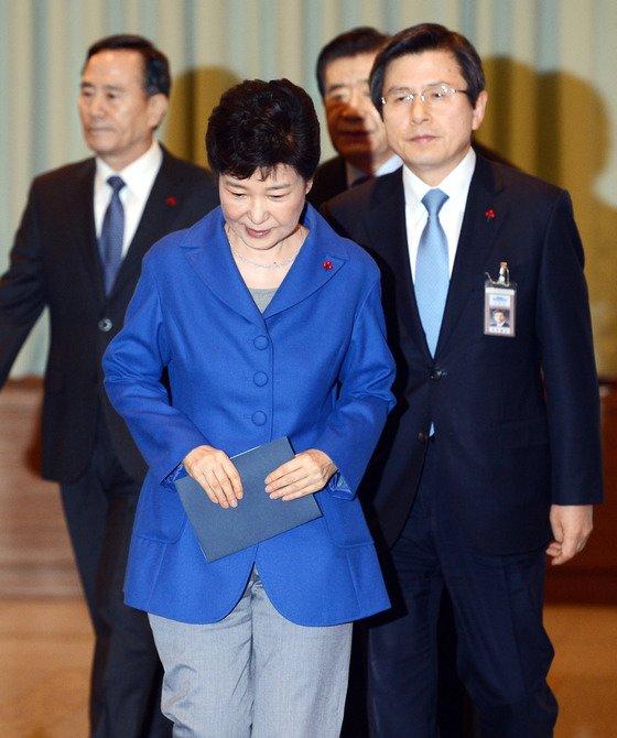 朴槿惠下台后,黄教安曾任代总统(《中央日报》)