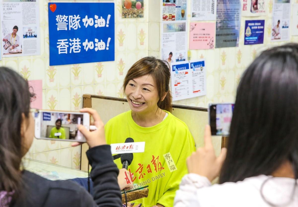 Kate姐接受北京日报客户端记者专访