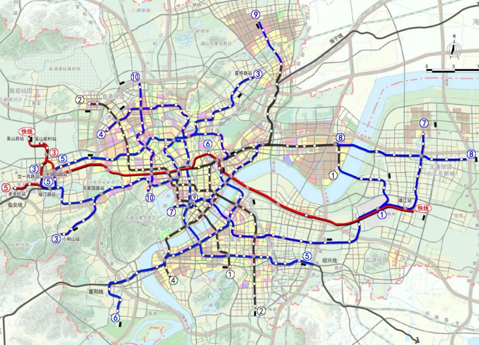 杭州市城市轨道交通第三期建设规划(2017~2022年)方案调整暗示图 图片来源浙江在线