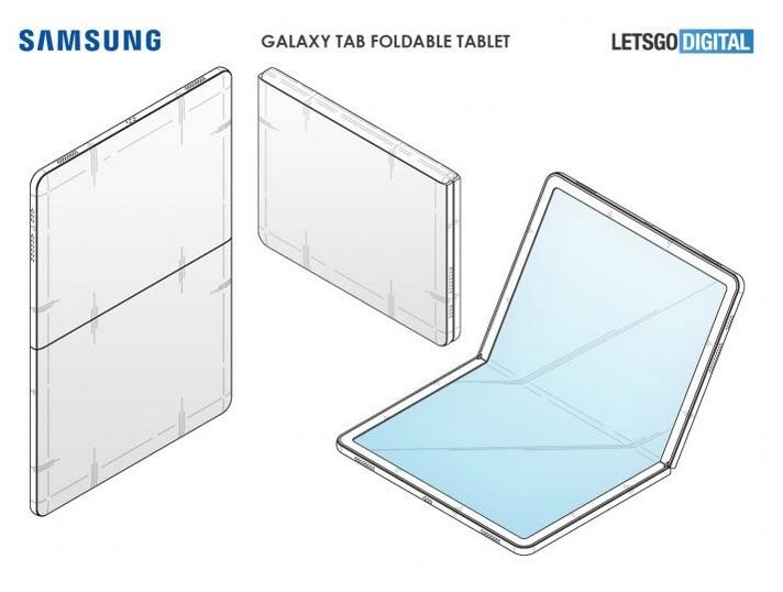 三星折叠平板设计曝光:或将采用屏下摄像头技术