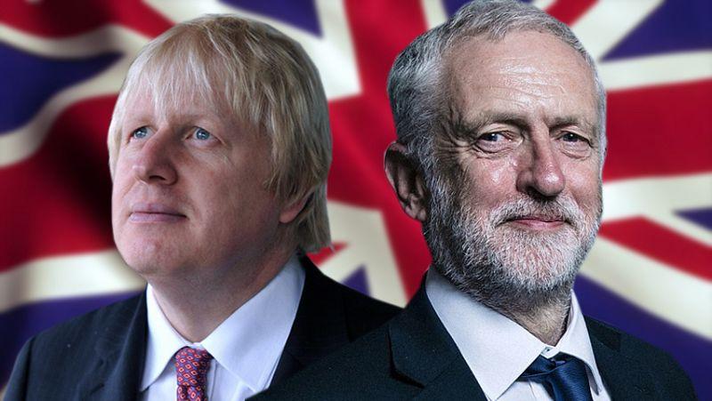 英国首相约翰逊与工党领袖科尔宾。(图源:独立报)