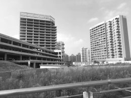 转战商业地产后上海明发商业广场:工地内杂草丛 疑似停工已超过1年