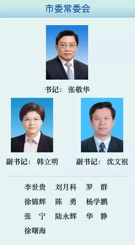 南京市委领导