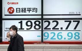 东京股市日经225指数跌破20000点(共同社)