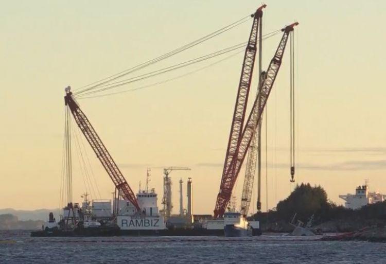 打捞现场 图源:挪威媒体