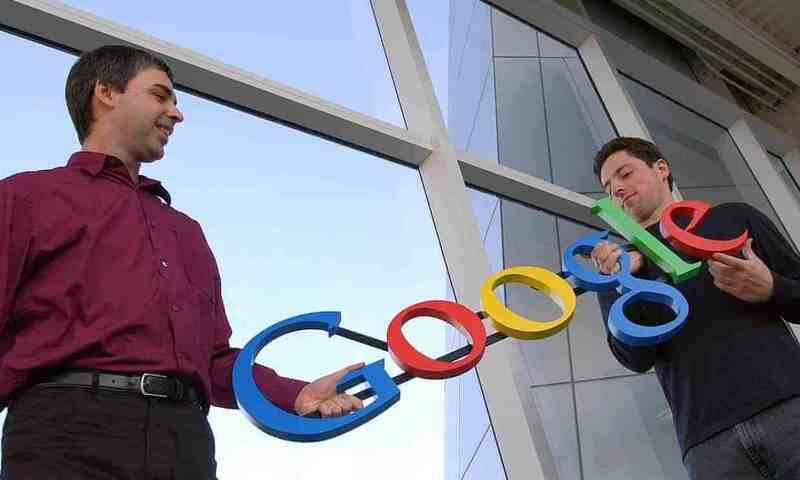 2004年,Google的两位说相符创首人相符影,Larry Page(左),Sergey Brin(右)。摄影:Ben Margot/美联社