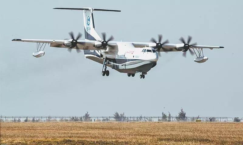 """▲资料图片:中航工业""""鲲龙""""AG600大型水上飞机。"""