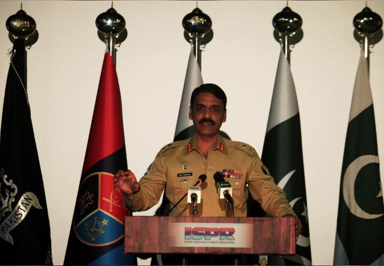 巴基斯坦军方发言人阿西夫·加福(图源:路透社)