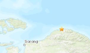 印尼北部城市索隆发生5.1级地震 震源深度10千米