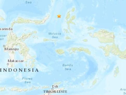 印尼東北部海域發生5.1級地震 震源深度35公里