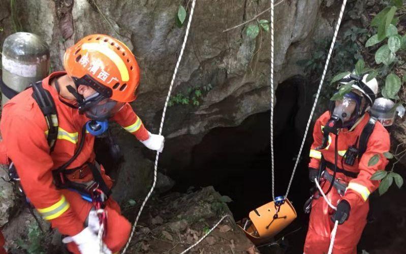 救援现场。图片来源:广西消防总队官方微博