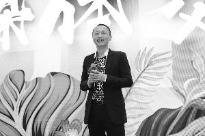 万科董事会主席郁亮在昆明出席媒体交流会