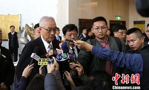 资料图片:国民党主席吴敦义。中新社记者 刘舒凌 摄