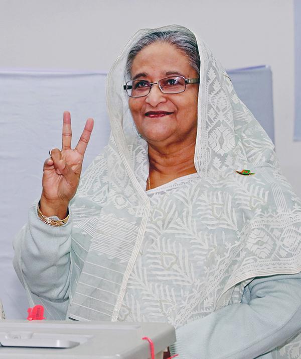 现任总理谢赫・哈西娜(Sheikh Hasina)在总理大选上不息第三次获得压服性胜利。东方IC 图