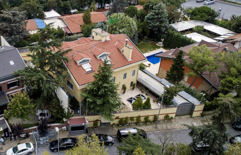 沙特驻土耳其伊斯坦布尔领事馆。 上不悦目信休 原料图