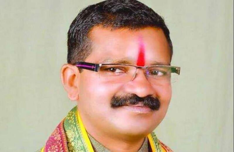 遇害的恰蒂斯加尔邦议员比马·曼达威(图源:印度人民党)